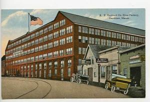 Gardiner ME Hazzard Shoe Factory Old Cars Postcard