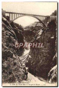 Old Postcard Haute Vallee De Pont Du Var Train In The Gorges Of Daluis