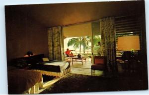 *Beach House Interior Balcony Dorado Beach Hotel Dorado Puerto Rico Postcard B71
