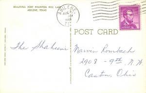 Abilene Texas~Fort Phantom Hill Lake~1965 Postcard