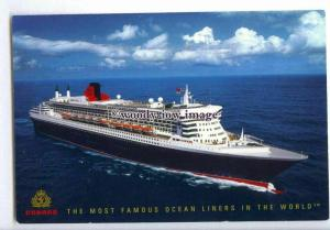 LN1128 - Cunard Liner - Queen Mary 2 , built 2004 - postcard