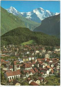 Switzerland, Interlaken, Monch, Jungfrau, used Postcard