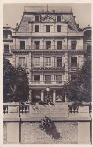 Switzerland Geneve Plaque Woodrow Wilson devant le Palais des Nations Real Photo