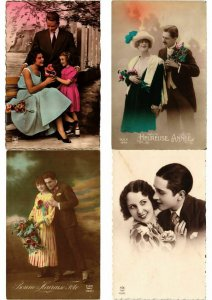 ROMANTIC COUPLES GLAMOUR REAL PHOTO lot of 700 CPA Pre-1940 Part 2. (L2447)
