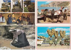 Portugal Wicker Craft Crafts Women Fishing Nets Baskets 4x Postcard s