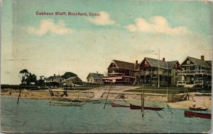 Postcard CT Connecticut Branford Cocheco Bluff Beach Posted 1910