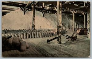 Hutchinson Kansas~Joy Morton Salt Plant~Factory Packing Room Interior~Bags~1912