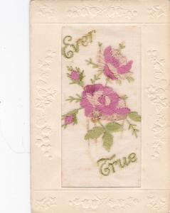 Embroidered ; TUCK; Broderie D´Art, Ever True, Pink Flowers, 00-10s