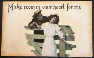 "Vintage Postcard Used Couple ""Make Room in you heart for me."" LB"