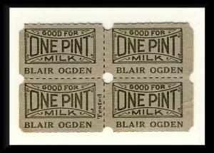 Blair Ogden Dairy Milk Tickets, Clearfield, Pennsylvania/PA