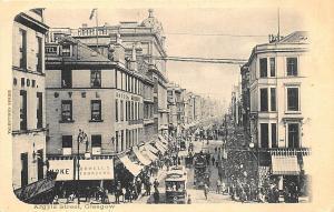 Glasgow Scotland Argle Street Double Decker Trolley Stores Postcard