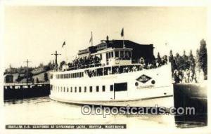 Real Photo - Grayline SS Sightseer At Government Locks, Seattle, Washington, ...