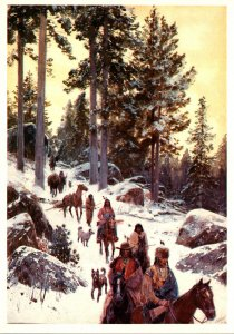 On The Trail In Winter By Henry Farny