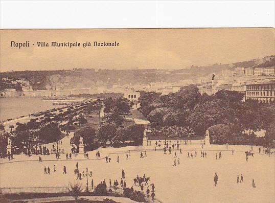 NAPOLI (Campania), Italy, 1900-1910s; Villa Municipale Gia Nazionale