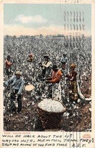 F47/ Black Americana Postcard Picking Cotton 1907 New Orleans 13