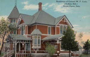 NORTH PLATTE, Nebraska, 1900-10s; Residence of Colonel W. F. Cody, (Buffalo B...