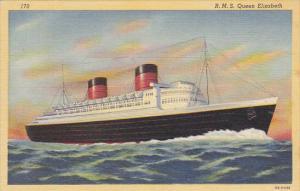R M S Queen Mary Curteich