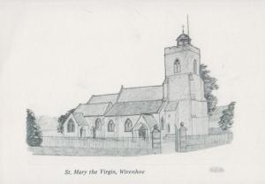 St Mary The Virgin Wivenhoe Essex Church Rare Artist Postcard