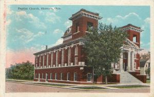 Shawnee Oklahoma~2 Square Towers, Pillars, Dormer Way on Top~Baptist Church~1924