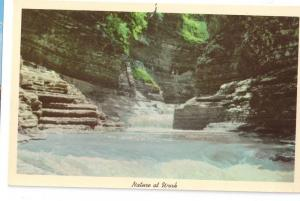 Water Fall Watkins Glen State Park New York Vintage Postcard