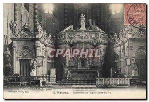 Postcard Old Moissac Sanctuary of the church Saint Pierre