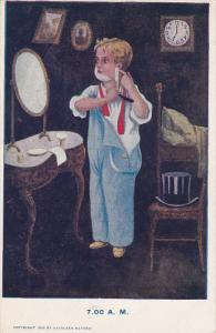 AS: Kathleen , Hours of the Day , 7.00 A.M , 1906 [Shaving w/ razor]