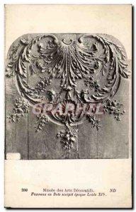 Old Postcard Musee des Arts Decoratifs Wood Panel XIV era Loiuis