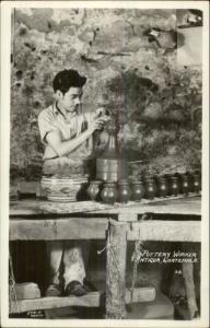 Antigua Guatemala Native Pottery Maker Potter Ethnic Ethnography RPPC Postcard