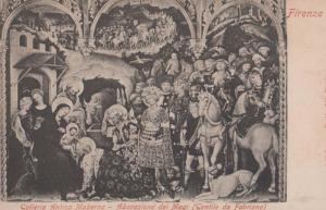 Firenze Adoration Of The Magi Fabriana Old Italian Art Gallery Painting Postcard