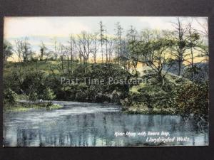 Radnorshire: Llandrindod Wells RIVER ITHON WITH LOVERS LEAP c1909 Old Postcard