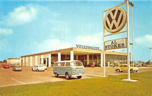 Houston TX Al Stokes Volkswagen VW Dealership Postcard
