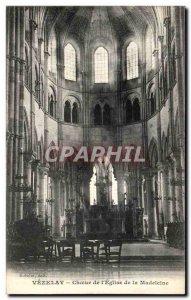 Old Postcard Vezelay Choir of the Church of the Madeleine