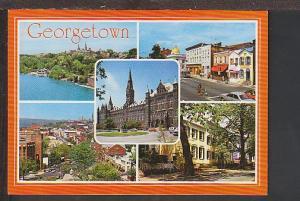 Multi View Gerorgetown Washington DC Postcard BIN