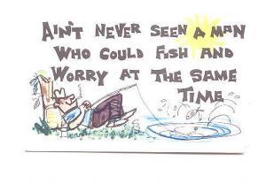 Cartoon, Fishing Worrying Joke,  Printed in Republic of Ireland