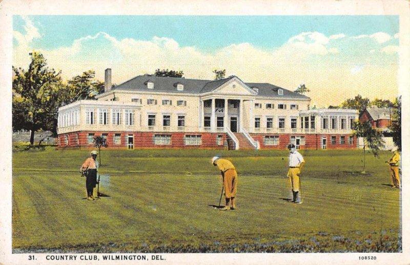 Wilmington Delaware Country Club Vintage Postcard AA36892