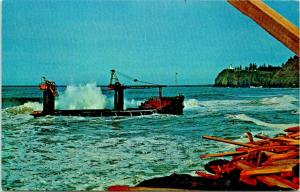 Long Beach Washington~Lumber Barge George Olson Wreck~Cape Disappointment~1965