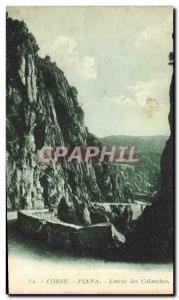 Old Postcard Corsica Piana Entree Des Calanches