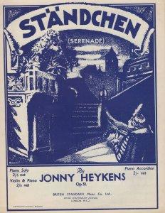 Standchen Serenade Johnny Heykens Sheet Music