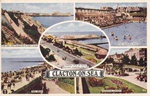 CLACTON, Essex, England, PU-1953; The Pier, West Beach, The Swimming Pool, Pr...