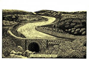 North Yorkshire Art Postcard, Ellerbeck, Goathland Moors by Douglas Reay GE2