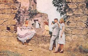 Panama Old Vintage Antique Post Card Spanish Cathederal Old Panama Unused