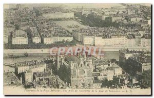 CARTE Postale Old Panorama Place Bellecour shooting the elevator to the Tower...