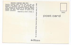 Train Railroad Postcard Engines 903 902 Reading EMD FP7A's