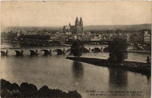 CPA TOURS - Vue générale la Loire et le pont de pierre (Nord-Ouest) (298369)