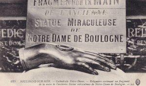 Statue Miraculeuse Notre Dame De Boulogne Old Postcard