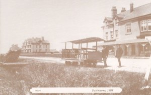 Fairbourne 1908 Tramway Transport Postcard