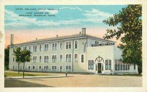 Benjamin Franklin C-1910 Hotel Holland roadside Paris Tennessee Postcard  6542