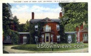 Ashland, Home of Henry Clay Lexington KY Unused