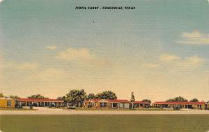 Kingsville Texas~Motel Carby~US Roadside Bypass 77~1950 Linen Postcard