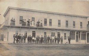 G16/ Park Rapids Minnesota RPPC Postcard 1928 New Park Hotel Building